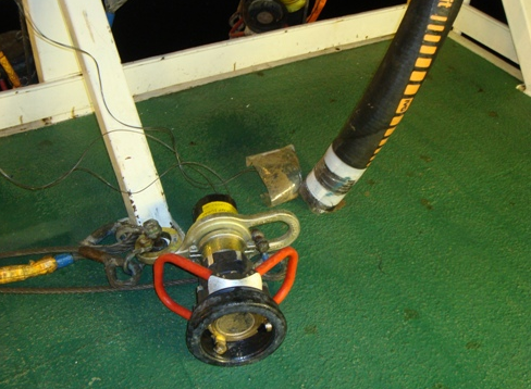 Mud hose and connector following incident