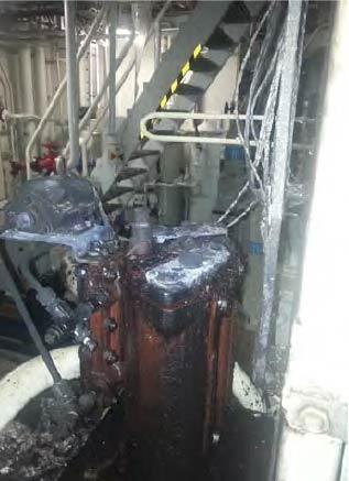 Figure 2: Failed fuel filter unit