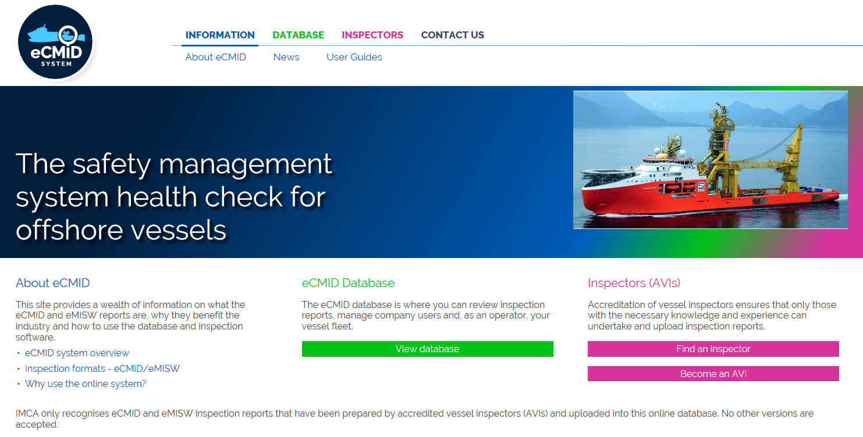 IMCA eCMID website